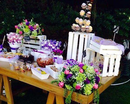 Mesas de dulces para bodas buscar con google diy - Mesas de boda decoradas ...