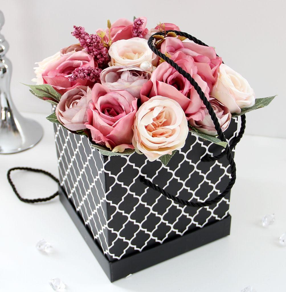 Kwiaty W Pudelku Flower Box Elegancki Mix Gifts Gift Wrapping Flowers