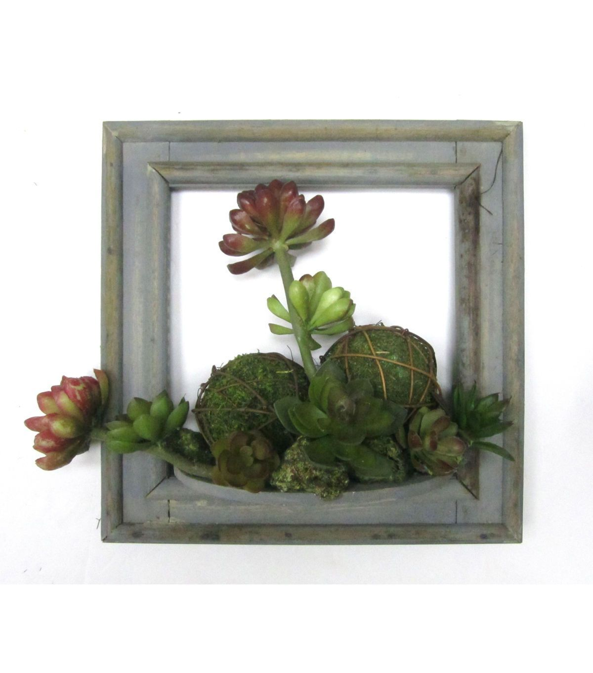 Dazzle Your Friends And Family With Dimensional Wall Hangings Like The  Bloom Room Succulent Wall Piece Green And Red. This Wall Piece Showcases A  Lovely ...