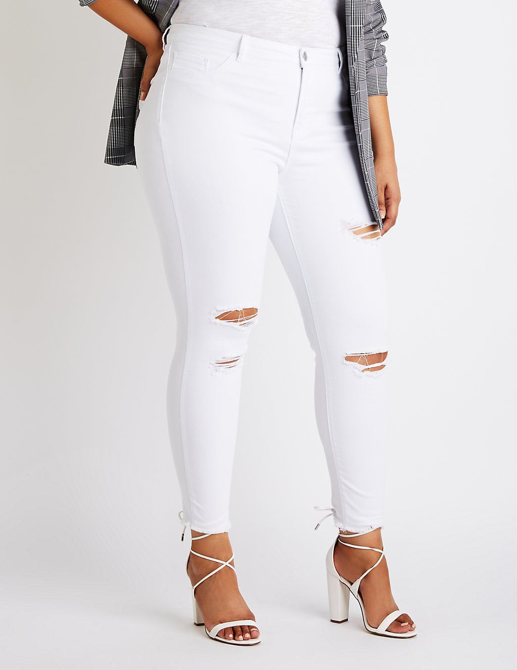 f009864a Plus Size Refuge Destroyed Skintight Legging Jeans | Plus Bottoms ...
