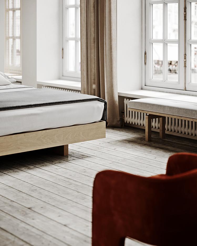 Cozy minimalistic bedroom in warm neutral hues ... on Neutral Minimalist Bedroom Ideas  id=32304