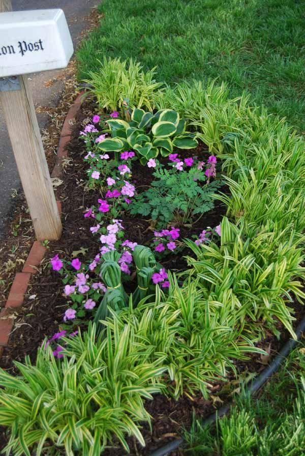 landscaping around mailbox post. Planting Flowers Around Mailbox - Google Search Landscaping Post