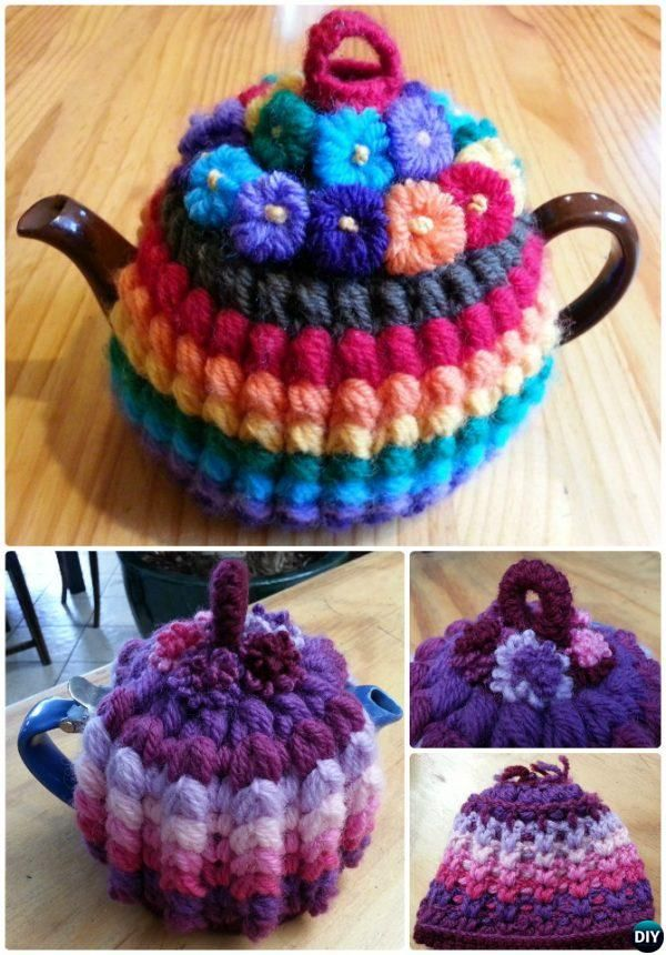 Crochet Vintage Puffy Stitch Rib Tea Cozy Free Pattern-20 Crochet ...