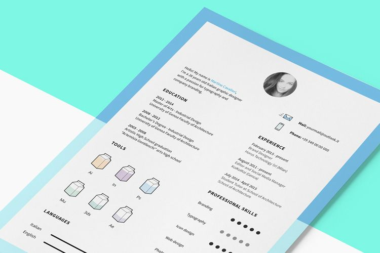 Resume Template with Icons u2013 HeyDesign Graphic Design \ Typography - resume templates for graphic designers