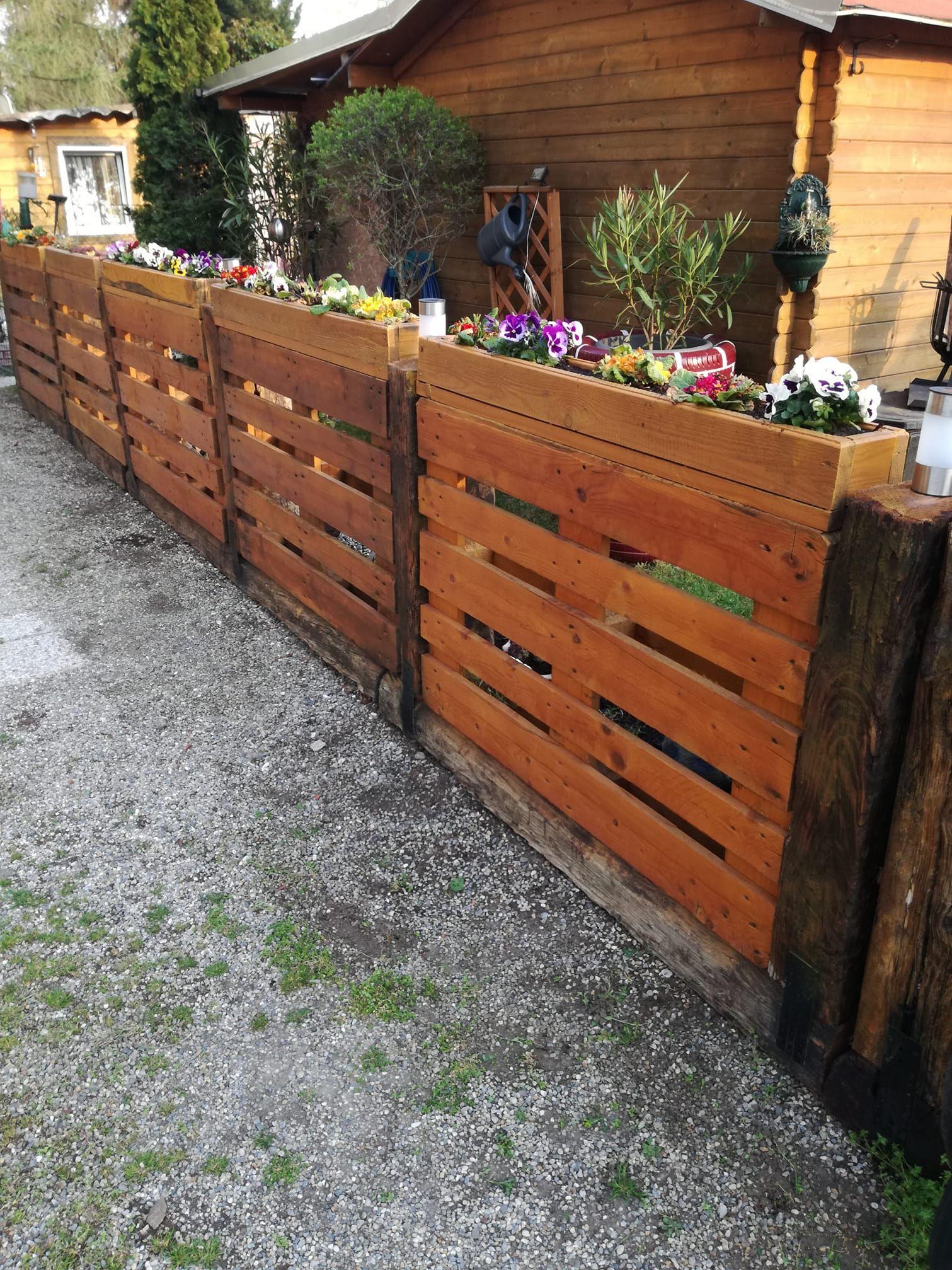 Palettenzaun Gartenprojekte Mit Holzpaletten Paletten Garten Paletten Ideen Garten