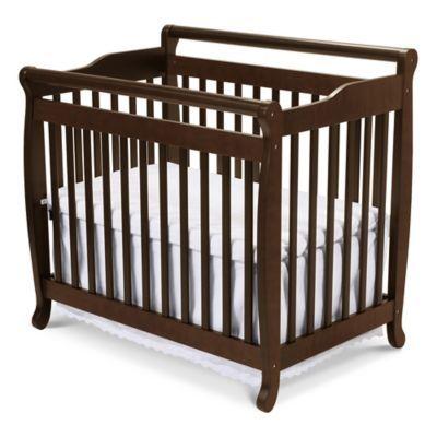 Davinci Emily 2 In1 Convertible Mini Crib In Espresso Mini Crib Cribs Cribs For Small Spaces
