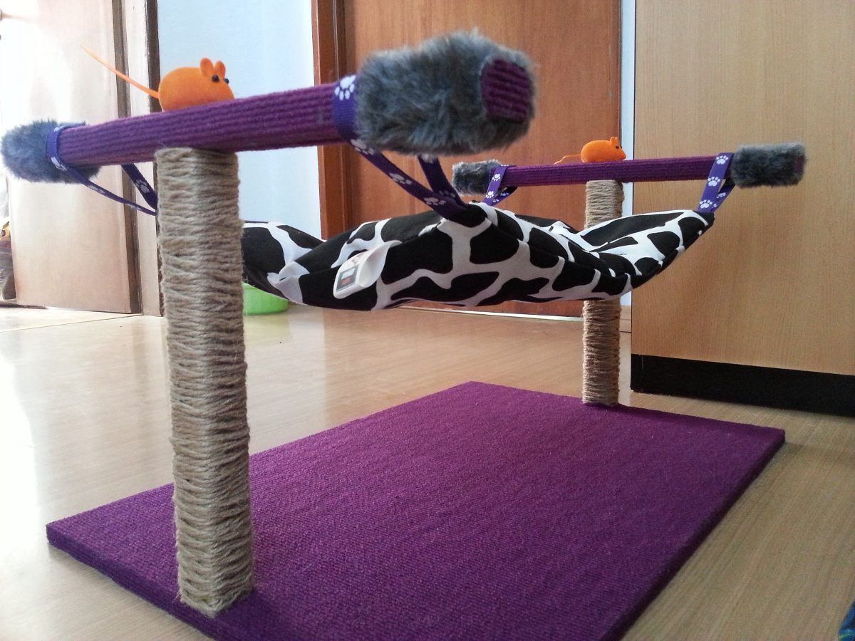 Rascador juguete hamaca con accesorios para gatos 650 00 en mercadolibre - Accesorios para hamacas ...