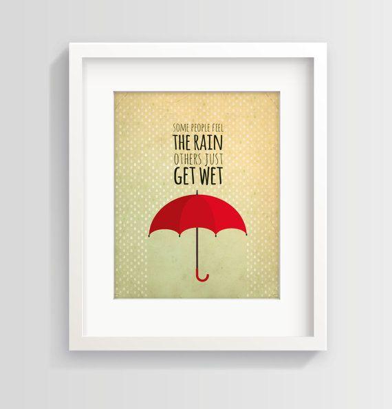 Teen art print - inspirational quote wall art | Teen art, Umbrella ...