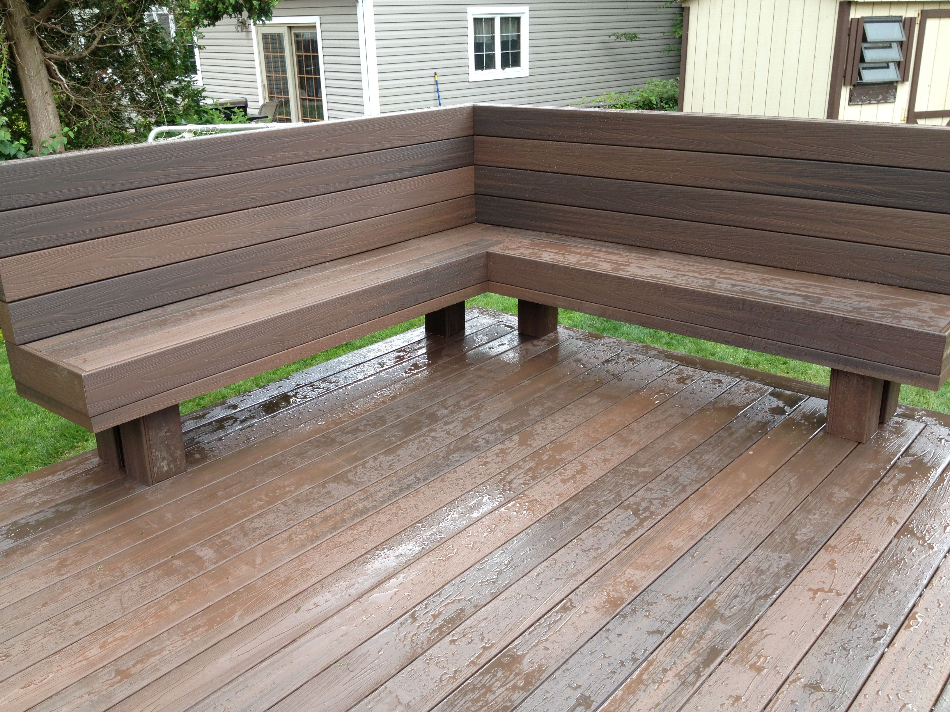 Maybe This Style Bench On The Deck Needs Under Seating Storage