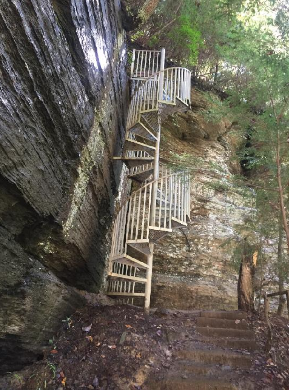 This Waterfall Staircase Hike May Be The Most Unique In All Of Tennessee