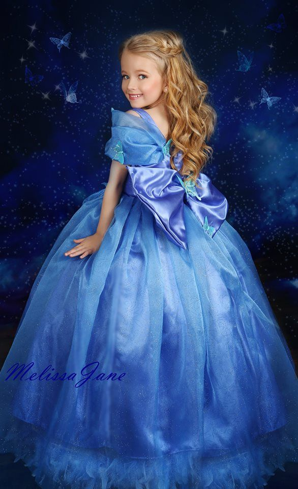 b29b3c3e3 Blue Inspired Cinderella Princess Girls Dress
