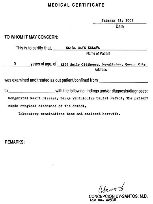 Medical Certificate Form Disclaimer Certificate Format Resume