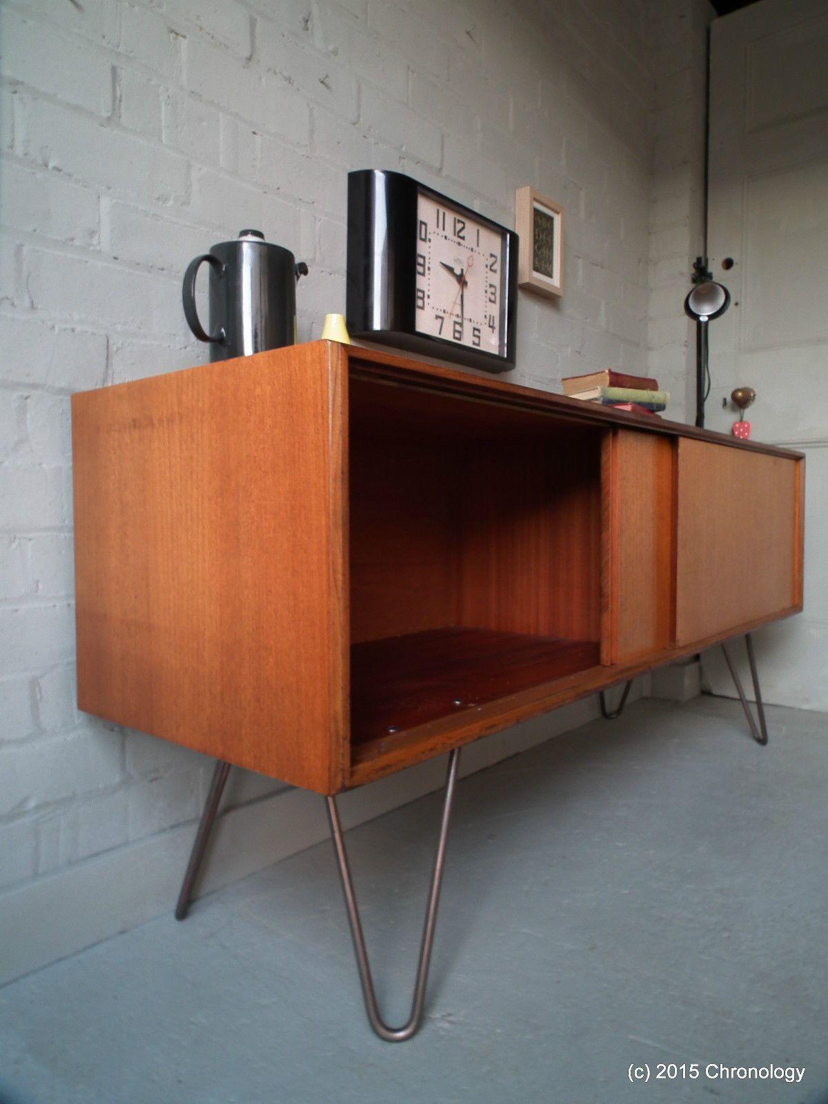 Vintage Retro Teak 60s G Plan Sideboard Industrial Hairpin Legs Danish Nathan Ebay Furniture Ideas G Plan Sideboard Sideboard Furniture