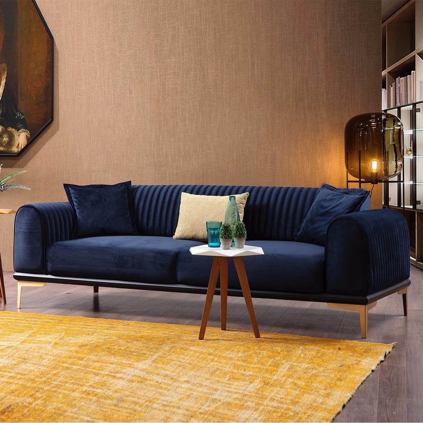 Nirvana 3 Seater Sofa Bed Nirv003 Blue Sofa Bed Design
