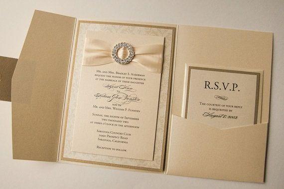 Elegant Gold Royal Wedding Invitation Cards Kevad Ja
