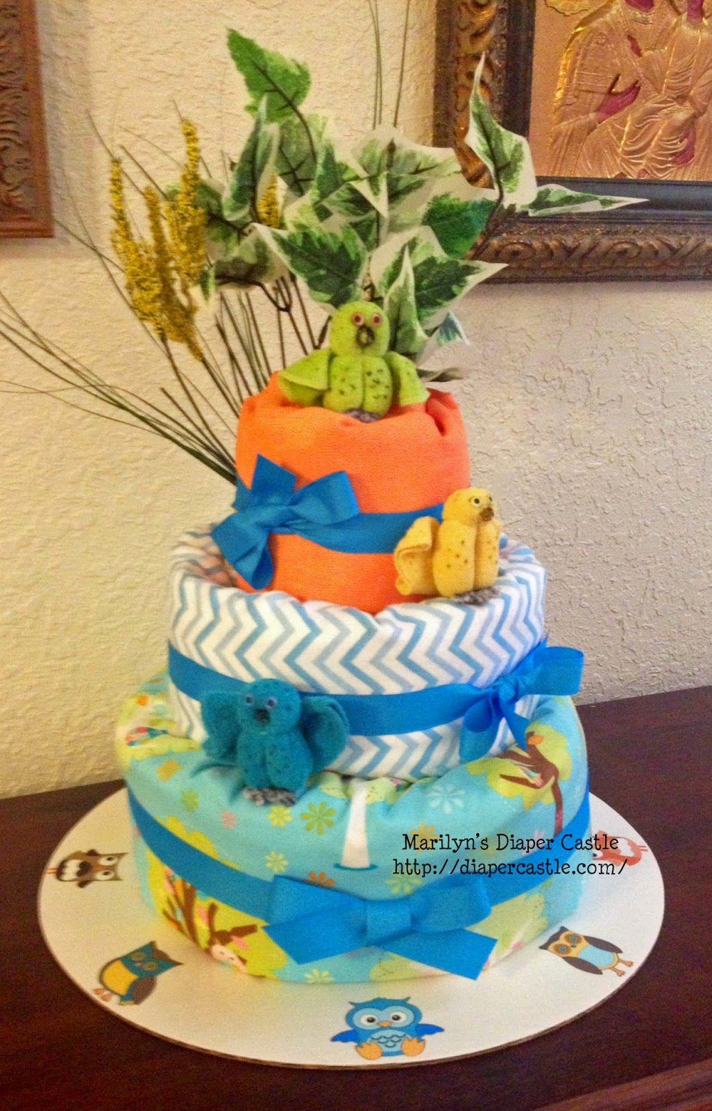 Marilynus diaper cakes owl diaper cake marilynus diaper cakes
