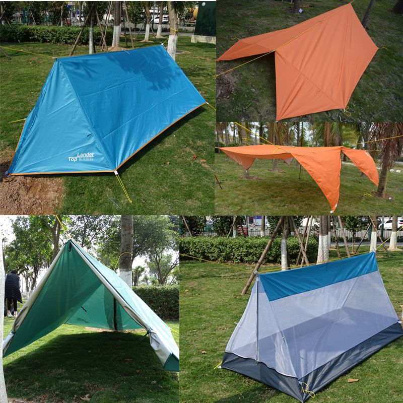 Double layer Single Outdoor Mosquito Tent Three Season Tarp Tent C&ing Sun Shelter Tent Multifunction DIY & Double layer Single Outdoor Mosquito Tent Three Season Tarp Tent ...