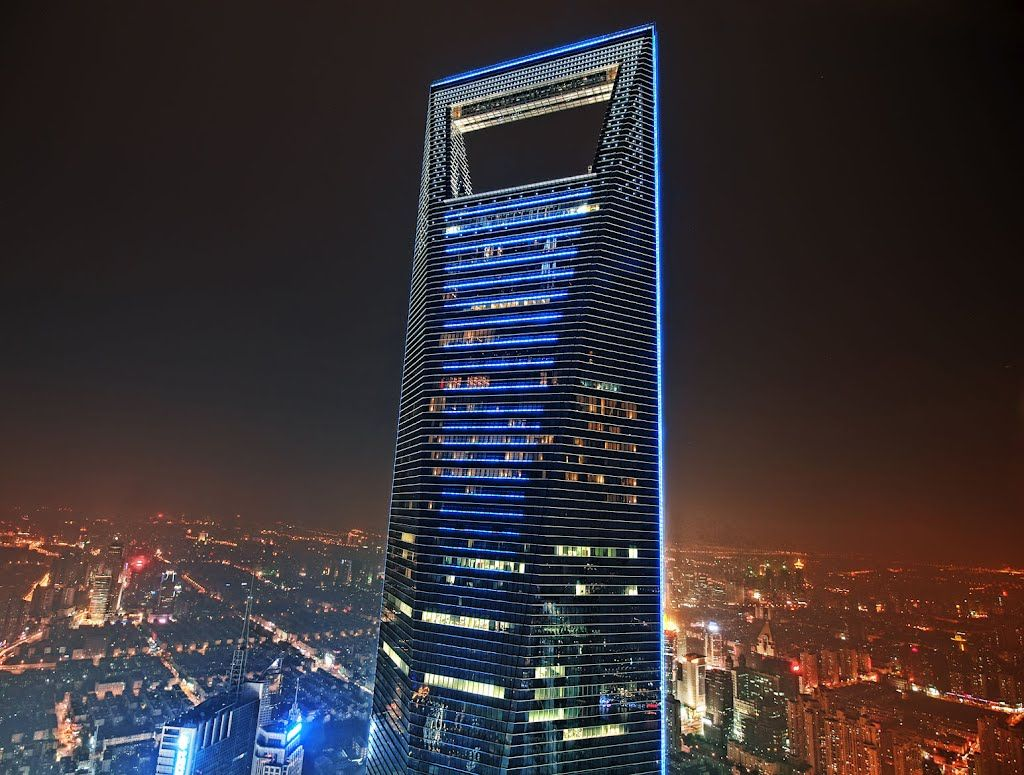 Shanghai World Financial Center Skyscraper Shanghai World Financial Center Exterior Lighting Design