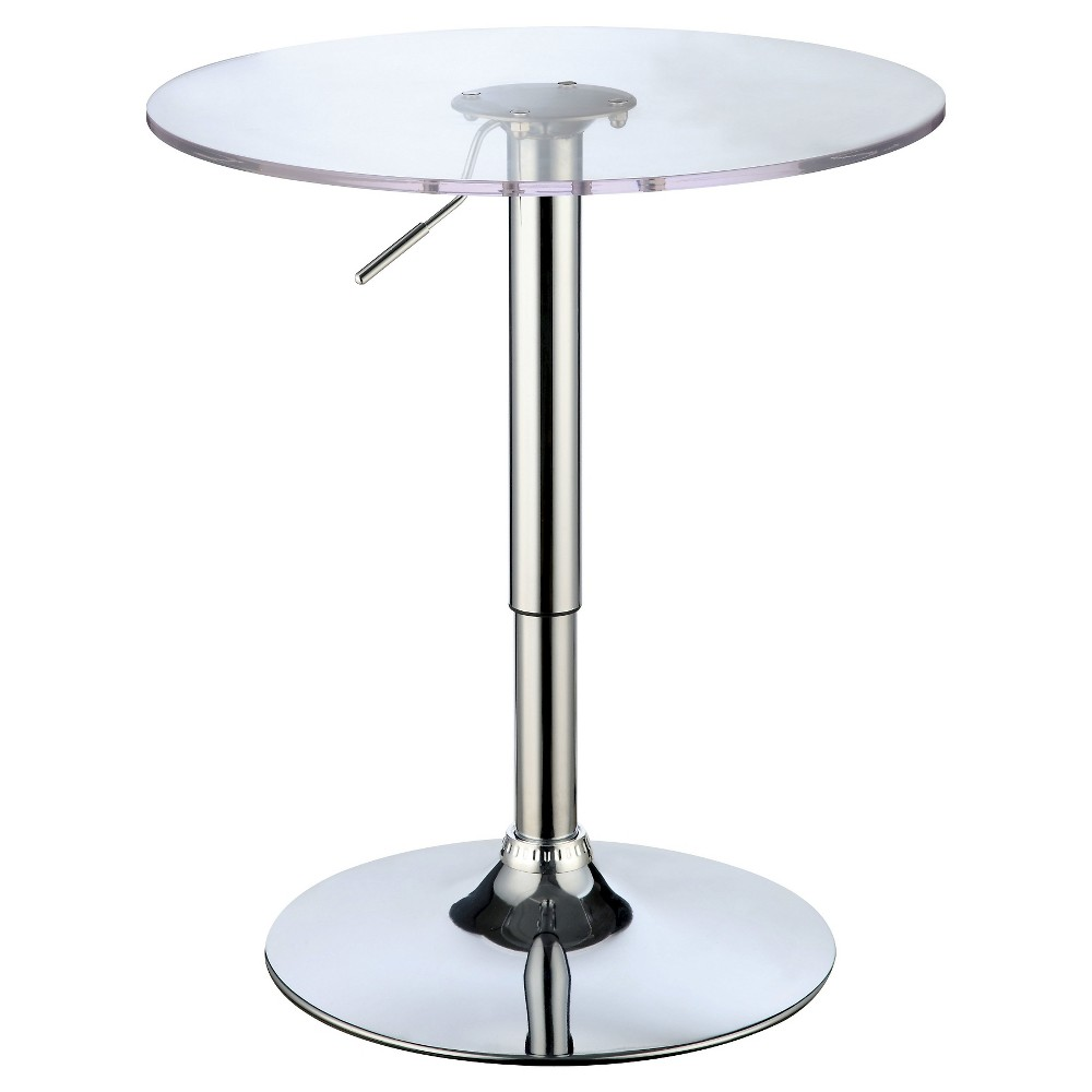 Iohomes libby modern bar table chrome shiny silver products