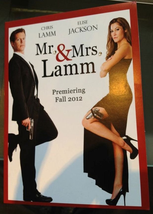 Mr & Mrs. Smith themed wedding announcement and invitation...SUPER ...