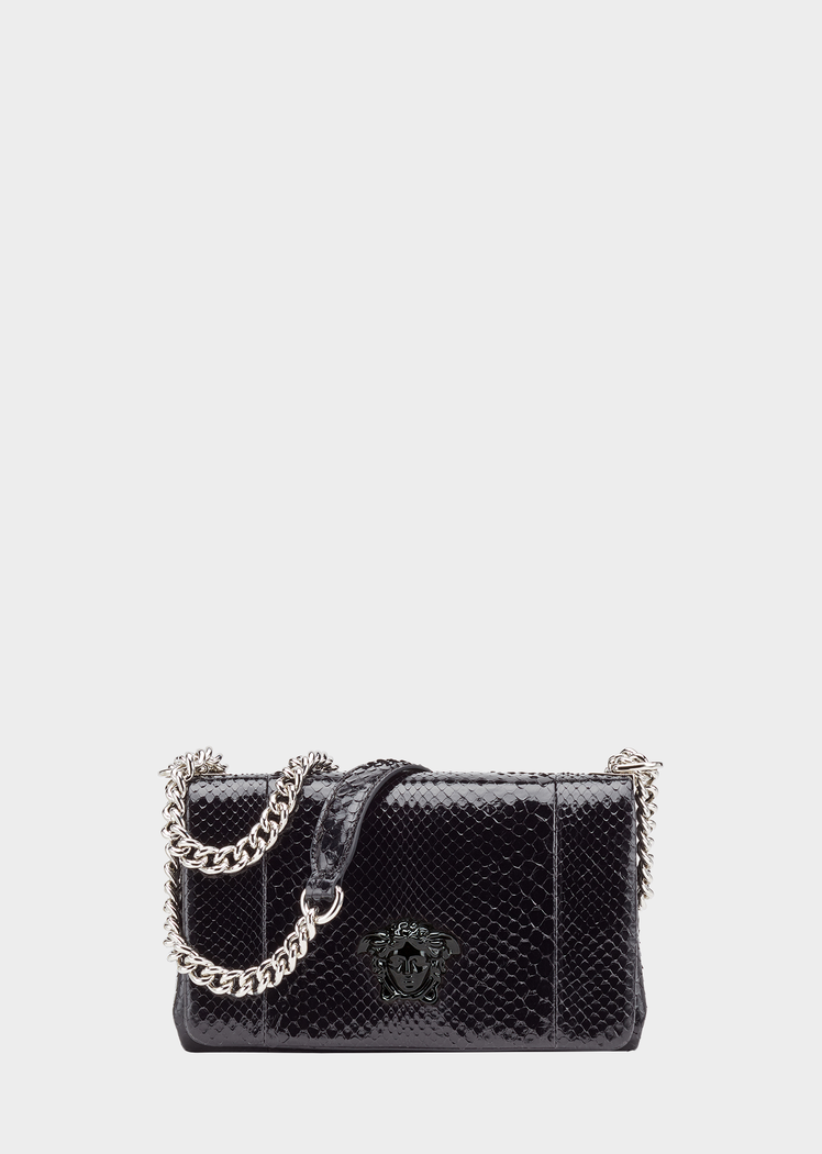 270a0c4e2c Python Palazzo Clutch - black Shoulder Bags
