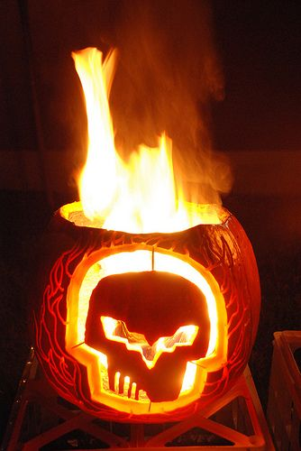 Jake o lantern halloween corvette pumpkin carving