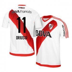 River Plate Home 16-17 Season #11 Driussi White Soccer Jersey [I958]