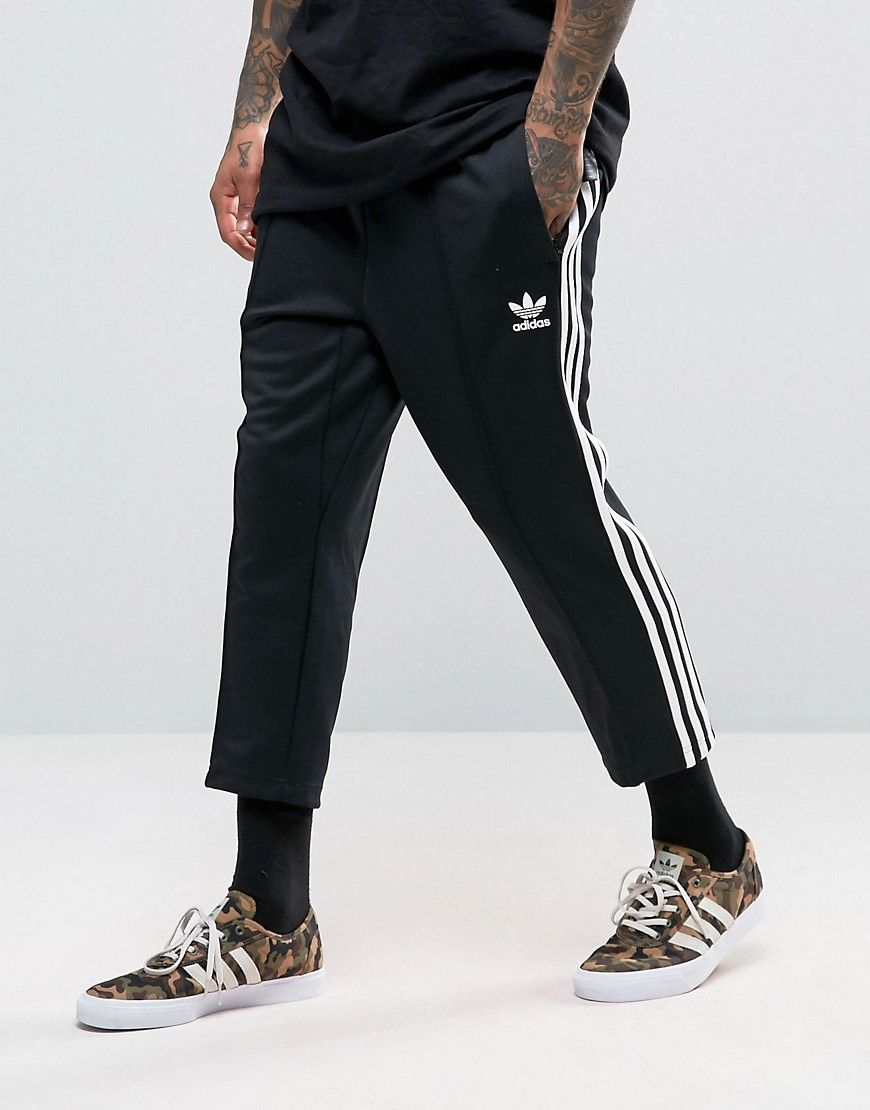 sold worldwide detailing delicate colors adidas Originals SST Relax Cropped Joggers In Black BK3632 ...