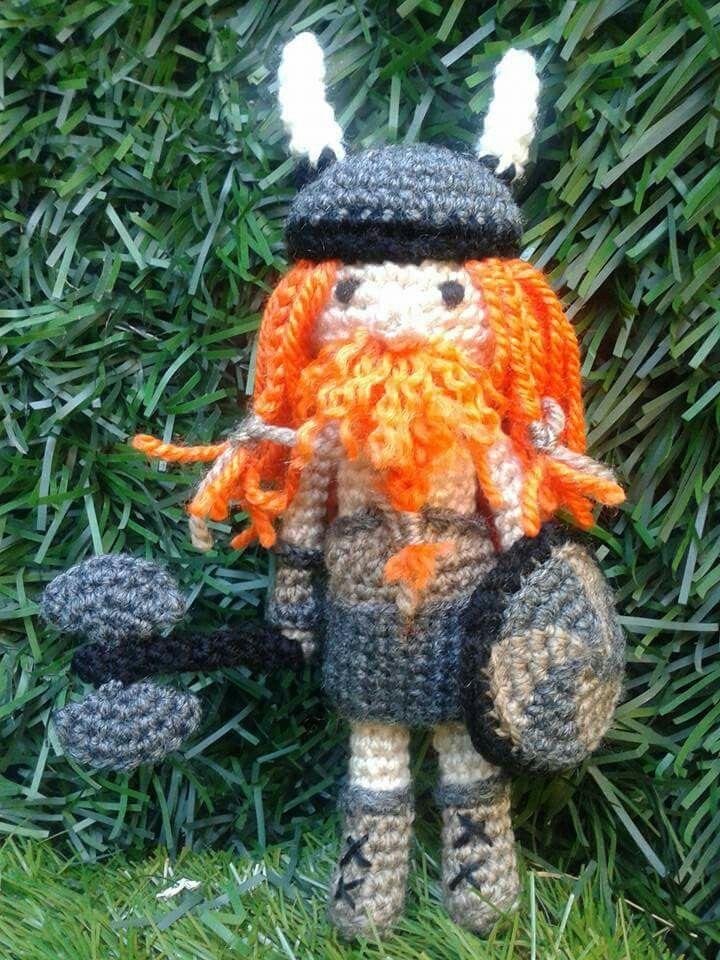 Vikingo Amigurumi | Bonecas, Miniaturas, Figuras | 960x720