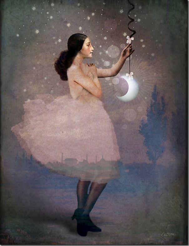 catrin welz-stein artist | Digital Artist Catrin Welz-Stein creates Figure With Shining Stars ...