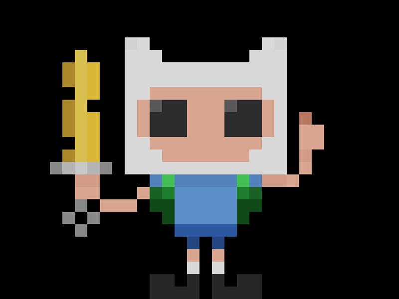 Famous Characters in Pixel Art: Finn #pixelart #characters #pixel #16bit #adventuretime #finn #cartoons #cartonianimati #videogames #games