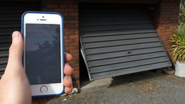 Build A Smartphone Connected Garage Door Opener With An Arduino Garage Doors Smart Garage Door Opener Garage Door Remote