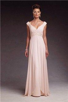 Empire V-neck Floor-length Chiffon Mother of the Bride Dress