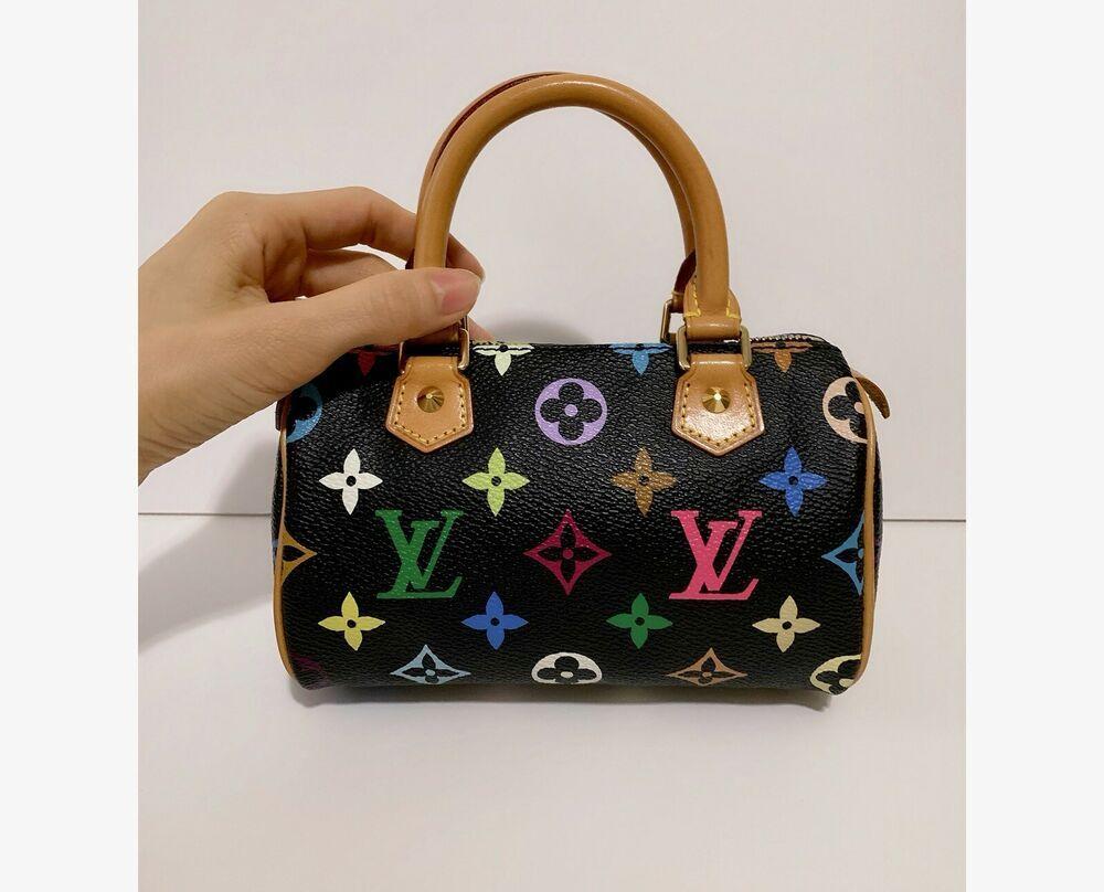 Authentic Louis Vuitton Mini Nano Speedy Murakami Multicolor Black Bag Fashion Clothing Sho Louis Vuitton Woman Bags Handbags Louis Vuitton Speedy Bag