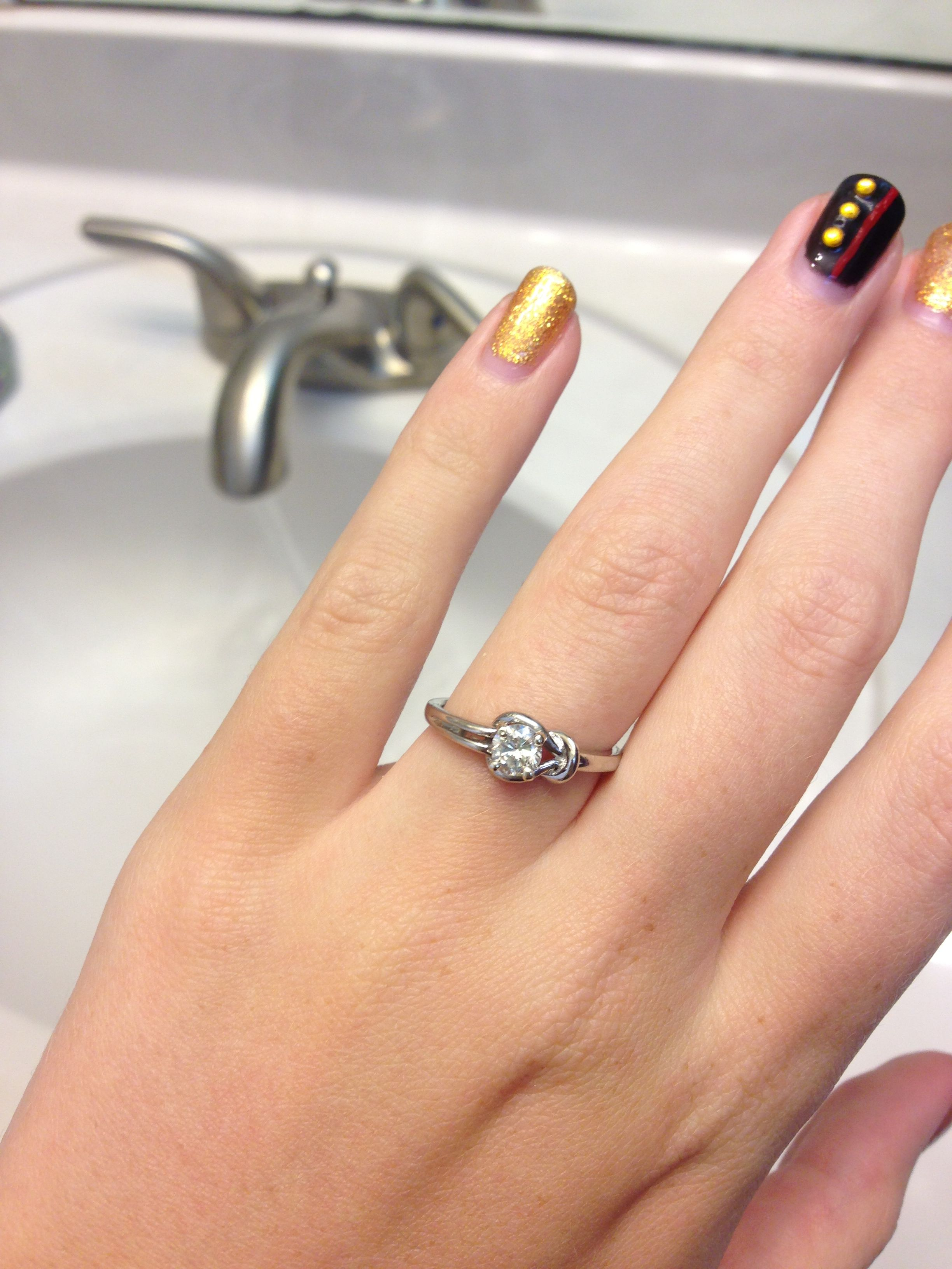 My love knot engagement ring Knot ring meaning, Rings