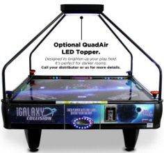 Wondrous Quad Air Galaxy 4 Player Coin Air Hockey Table With Led Interior Design Ideas Tzicisoteloinfo