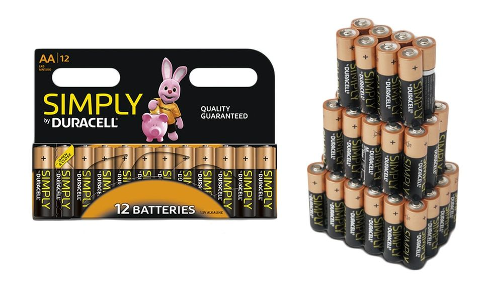12 24 36 36 Or 72 Aa Lr06 And Aaa Lr03 Duracell Simply Batteries Duracell Duracell Batteries Aaa Batteries