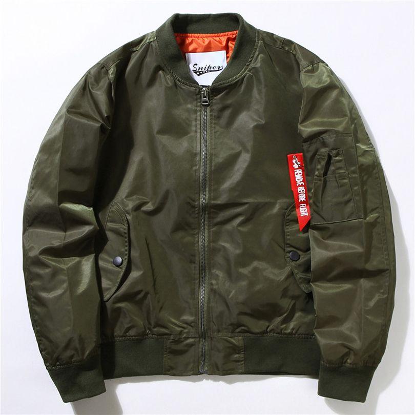 Ma1 Bomber Flight Jacket US Army Military Jackets Mens Classic Air ...