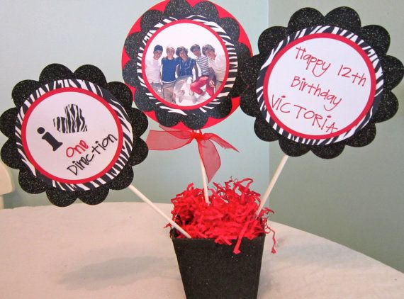 One Direction Party Centerpiece by POPSnMORE on Etsy, $12.00