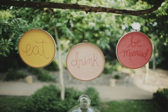 Simple and beautiful! Eat, drink and be married!