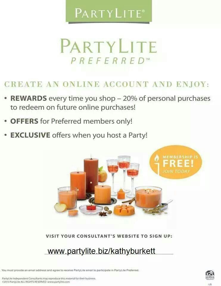 Sign up today partylitezkathyburkett partylite gift sign up today partylitezkathyburkett platinumwayz