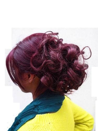 Hair Extensions Curly Or Messy Drawstring Updo Full Bun Wine ...