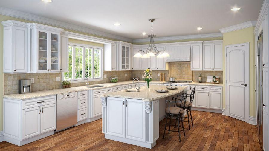 Maple White Raised Panel Kitchen Cabinets Glendale Ca Sale L0na