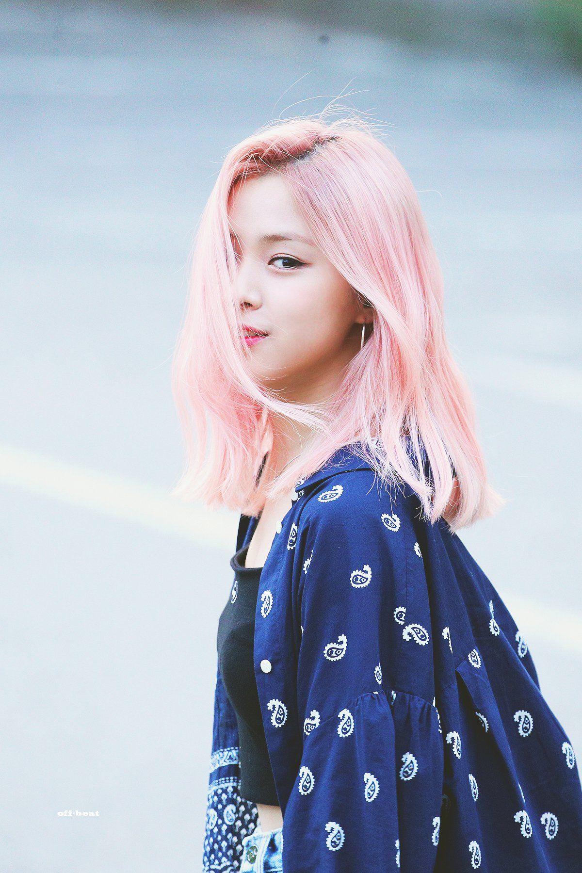 Ryujin Pics On Twitter Itzy Pink Hair Girl