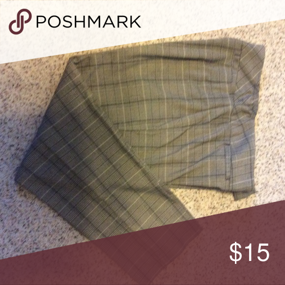 3fc924416a5 Women s Plus Size Panta Ladies plus size plaid pants. Pants have a  Hollywood style waist