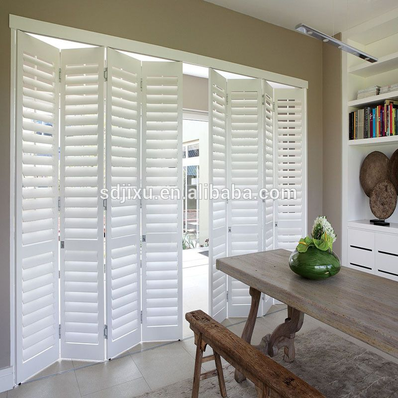 Best Quality Wooden Interior Bi Fold Window Shutters From China