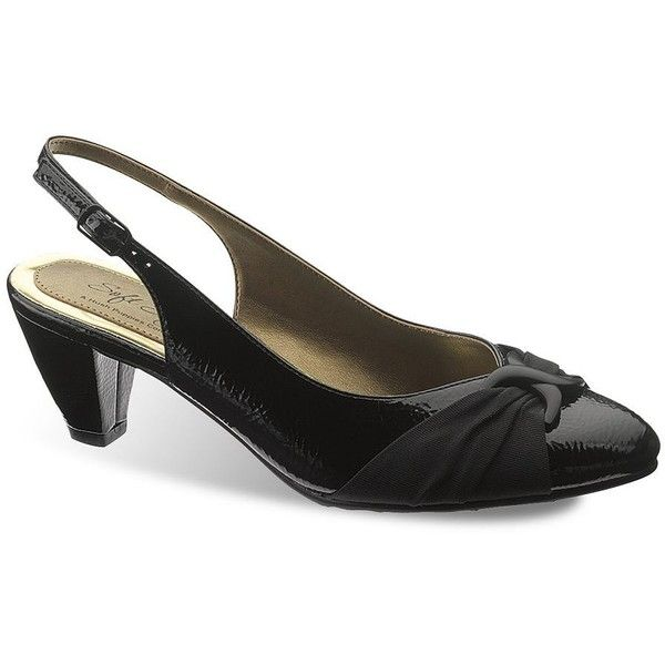 Black dress pumps wide