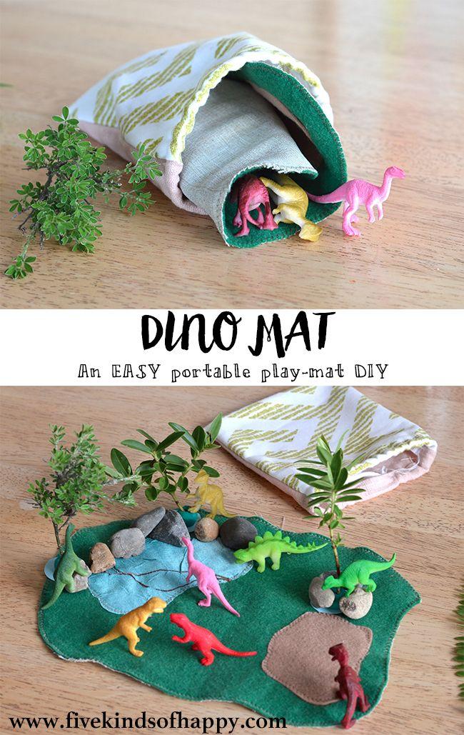Easy DIY dinosaur play mat toy