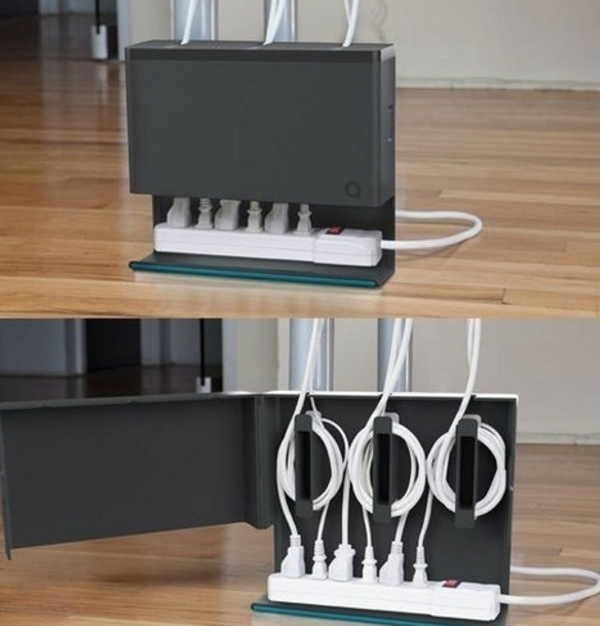 What A Beautiful Way To Hide Electrical Cords Clutter Busting - Creative and stylish solution to hide electrical wires cluttering a room