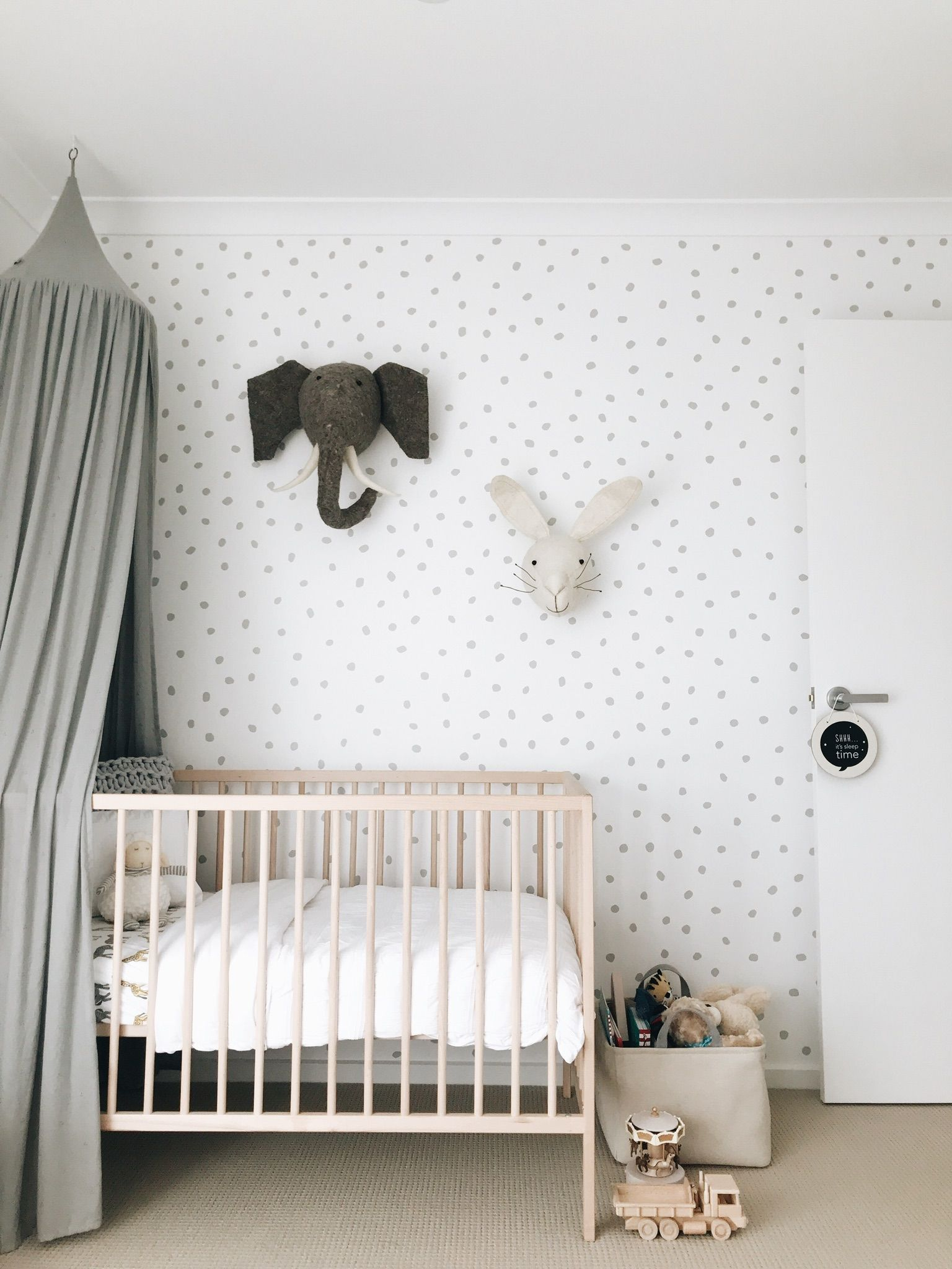 Irregular Dots  Nursery accent wall, Baby room design, Nursery